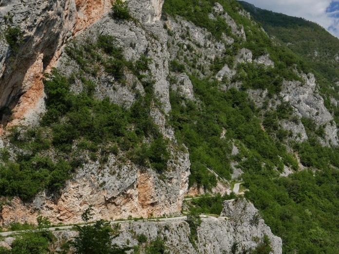 Road in cliff, montenegro